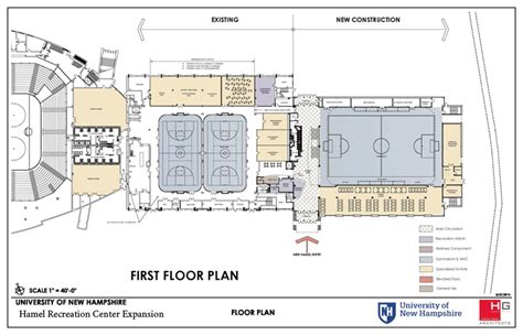 recreation center floor plans unh capital projects fy 2016 2021 university of new