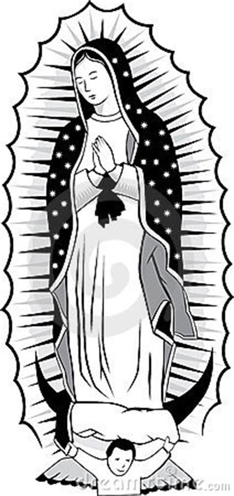 black and white virgin of guadalupe stock image image