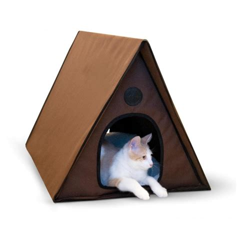 outdoor cat houses for multiple cats k h outdoor multi kitty a frame heated cat house shelter bed