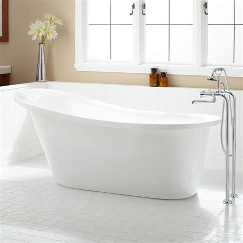 slipper bathtubs 67 quot sadie acrylic slipper tub bathroom