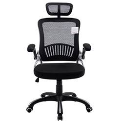 Office Chairs With Lumbar Support And Adjustable Arms Uk Mesh High Back Padded Grey Swivel Office Chair With