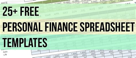 25 free spreadsheet templates to manage your daily