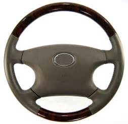Steering Wheel Walnut Wooden Steering Wheel For Toyota Hilux Mk6 Vigo Wood Brown Leather D4d Ebay
