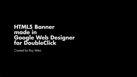 tutorial google web designer banner html5 banner tutorial in google web designer youtube