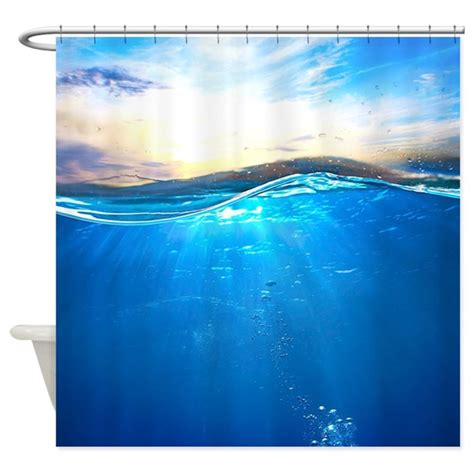 ocean shower curtains underwater ocean shower curtain by bestshowercurtains