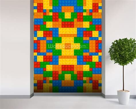 lego wall murals lego pattern effect wallpaper wall mural wallsauce