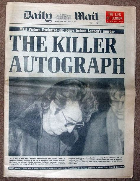 john lennon biography articles 17 best images about headlines in my lifetime on pinterest