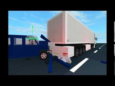 Rear End Crash Tests by Roblox Transporter And Scania Truck Rear End Collision