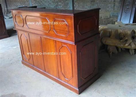 Meja Resepsionis Kayu meja resepsionis atau meja front office untuk hotel bank