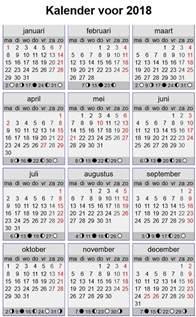 Kalender 2018 Feestdagen Nederland Datum Vandaag Kalender 2018 Datum Jaar Kalender 2018