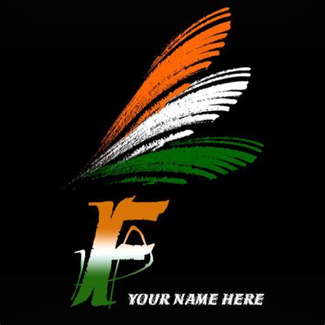 write     alphabet indian flag images