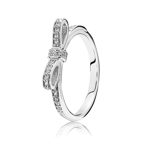 pandora rings pandora delicate bow ring 190906cz pandora from gift and