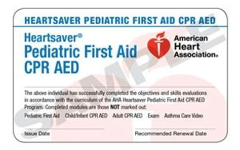 american association heartsaver cpr card template 15 1813 heartsaver 174 pediatric aid cpr aed