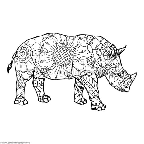 rhino coloring page rhino coloring pages getcoloringpages org