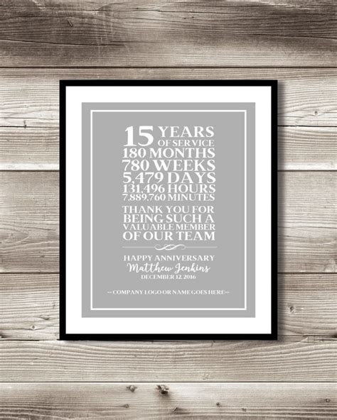 gifts for a 15 year only best 25 ideas about work anniversary on