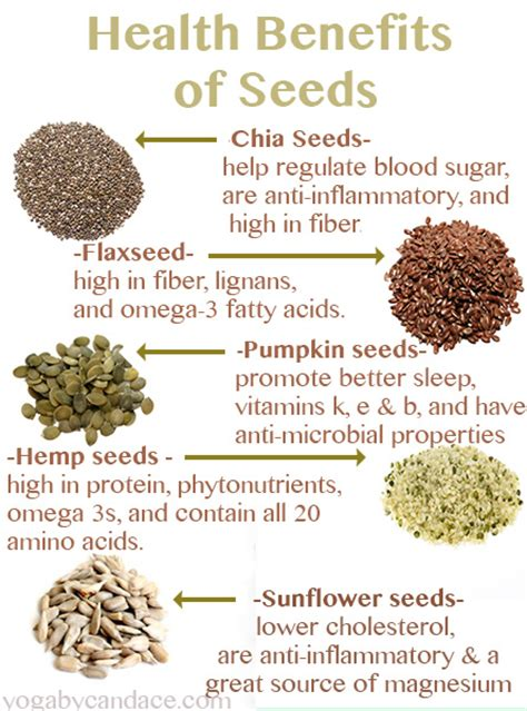 health benefits of seeds yogabycandace