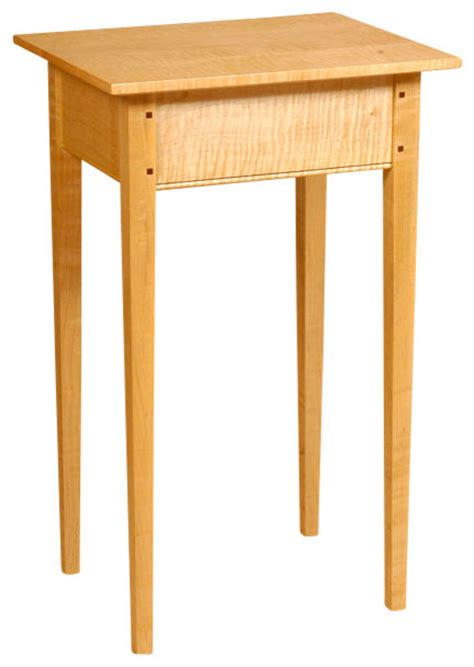 shaker style end table shaker style side table curly maple traditional
