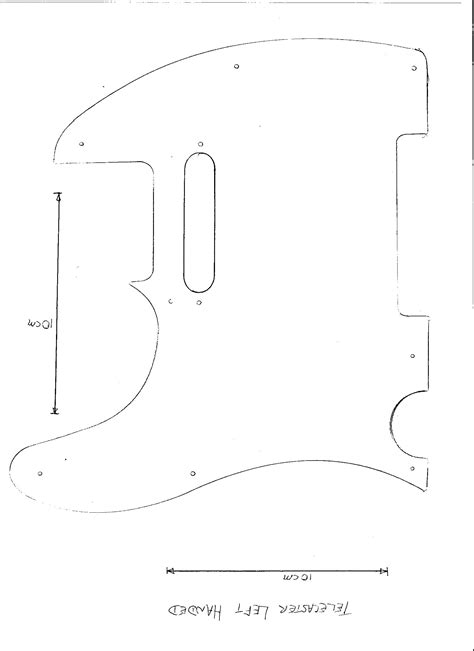 fender neck template tele guitar templates diy sepala
