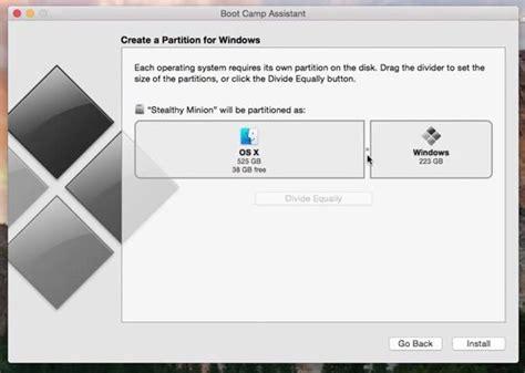 install windows 10 yosemite how to install windows 8 on mac with os x yosemite