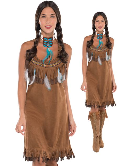 american themed clothing uk ladies red indian costume adults pocahontas native