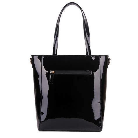Pvc Tote Bag l1439 miss lulu pvc bow shoulder tote bag black