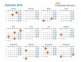 Kalender 2016 Kalenderwochen Kalender 2016 Mit Feiertagen