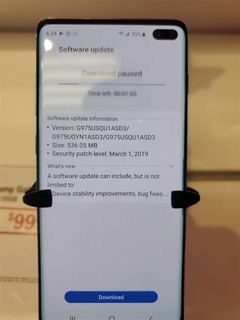 Samsung Galaxy S10 June Update by T Mobile Galaxy S10 Plus Receives New Ota Update That Improves Fingerprint Sensor And