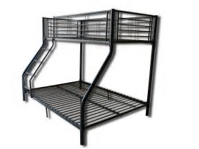 Black Metal Bunk Bed Children Metal Sleeper Bunk Bed Frame In Black No Mattress New Ebay