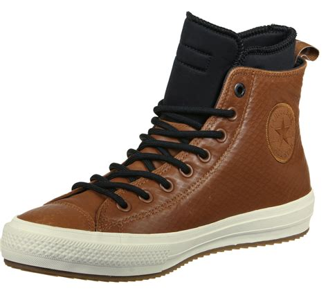converse all ii boot leather shoes brown