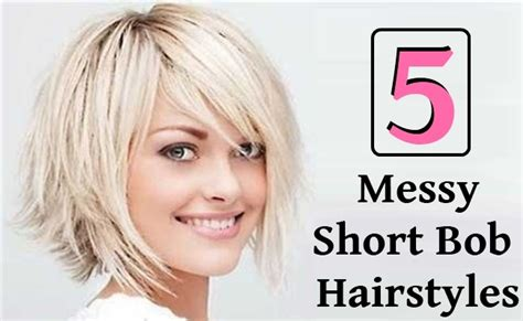 hair styles for acne 5 messy short bob hairstyles style presso