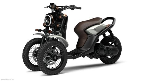 yamaha shows gen  wheeled scooter concepts