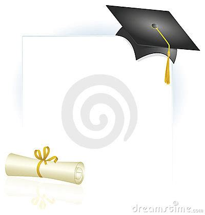 graduation borders templates free graduation cap and diploma page layout stock photo image