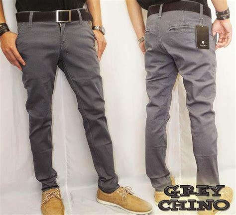Celana Chino Panjang Bahan Twill Keren jual celana chino abu bahan cotton twill clothindo