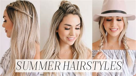 easy to make summer hairstyles 3 easy no heat hairstyles for summer alex garza youtube