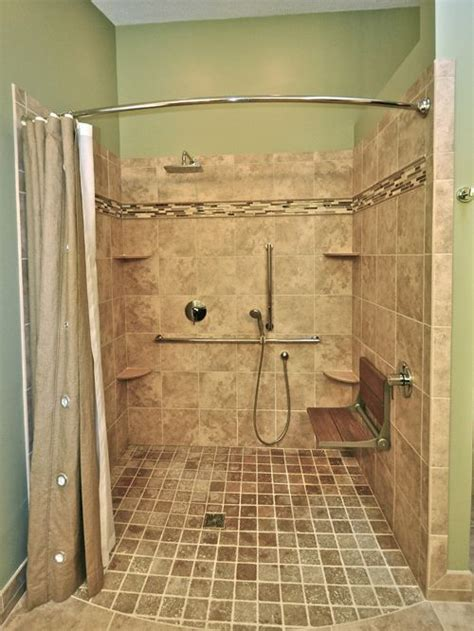 Handicapped Accessible Shower Houzz Handicapped Bathroom Showers