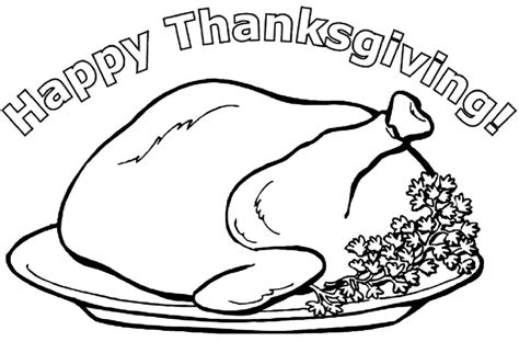 cooked turkey coloring page free cooked turkey drawing az coloring pages