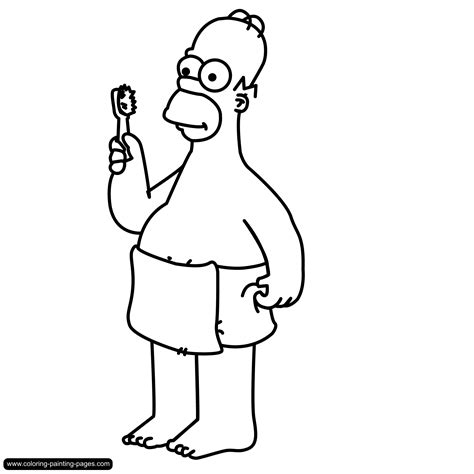 Free Coloring Pages Of How To Draw Homer Simpson Homer Coloring Pages