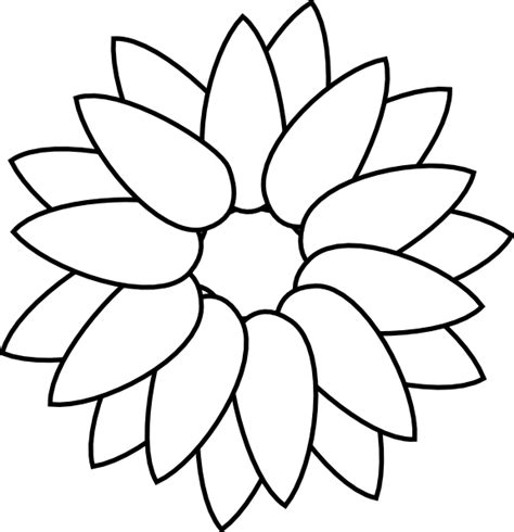 Sunflower Outline Png sunflower outline clip at clker vector clip royalty free domain
