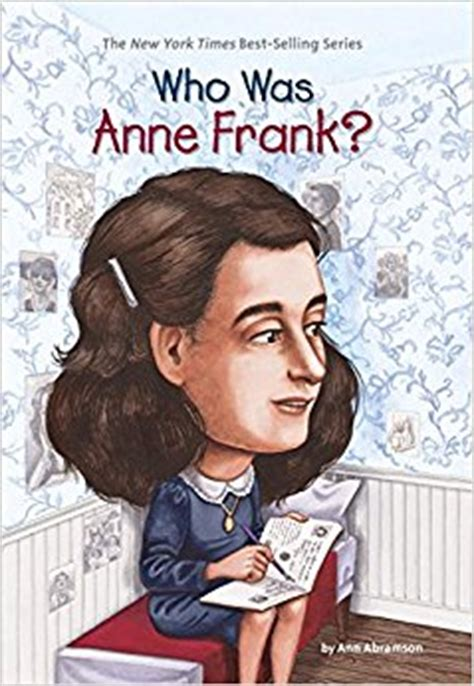 anne frank picture book biography who was anne frank ann abramson who hq nancy harrison