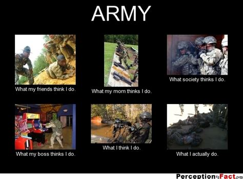 army what people think i do what i really do