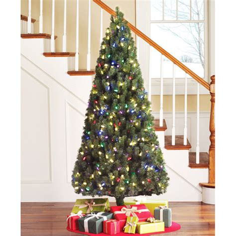 holiday time pre lit 6 5 led color changing artificial
