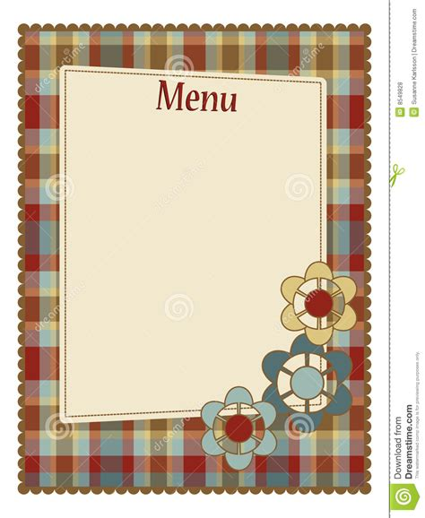 Menu Template Royalty Free Stock Photos Image 8549828 Menu Template