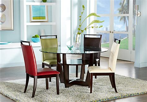 Red Dining Room Sets ciara espresso 5 pc dining set with red chairs dining