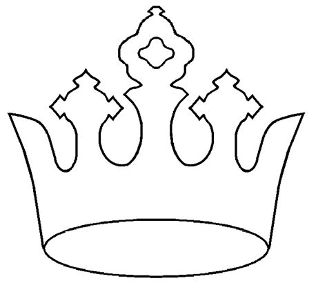 free printable tiara template crown patterns printable clipart best