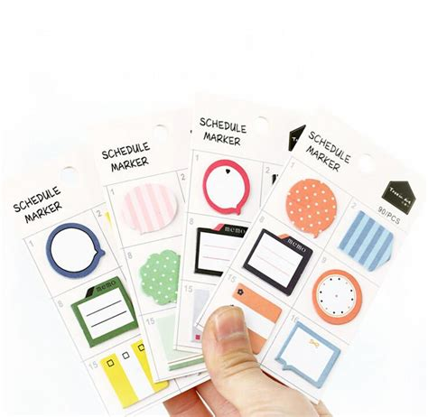 Schedule Stickers Schedule Seal Date Marker Stickers self adhesive schedule marker sticky notes doodadshunter