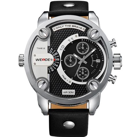 Jam Tangan Quartz Silver weide jam tangan japan quartz miyota wh3301 black