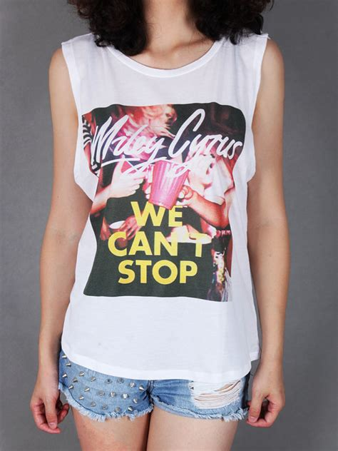 We Can T Stop Shirt we can t stop miley cyrus sleeveless sideboobs pop by saheartfire