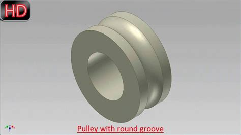 pulley   groove video tutorial autodesk