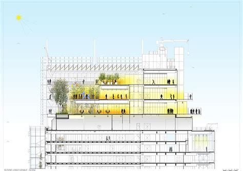 Piano Section by Gallery Of Intesa Sanpaolo Office Building Renzo Piano