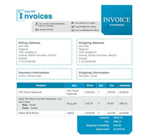 magento invoice template invoice template magento rabitah net